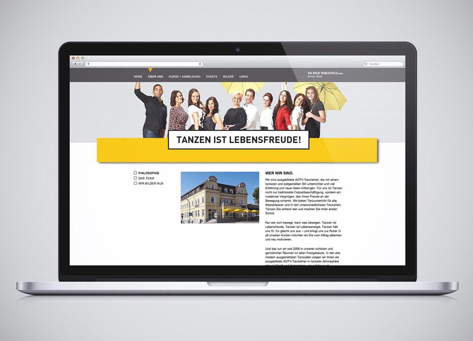 Webdesign Aalen Die neue Tanzschule