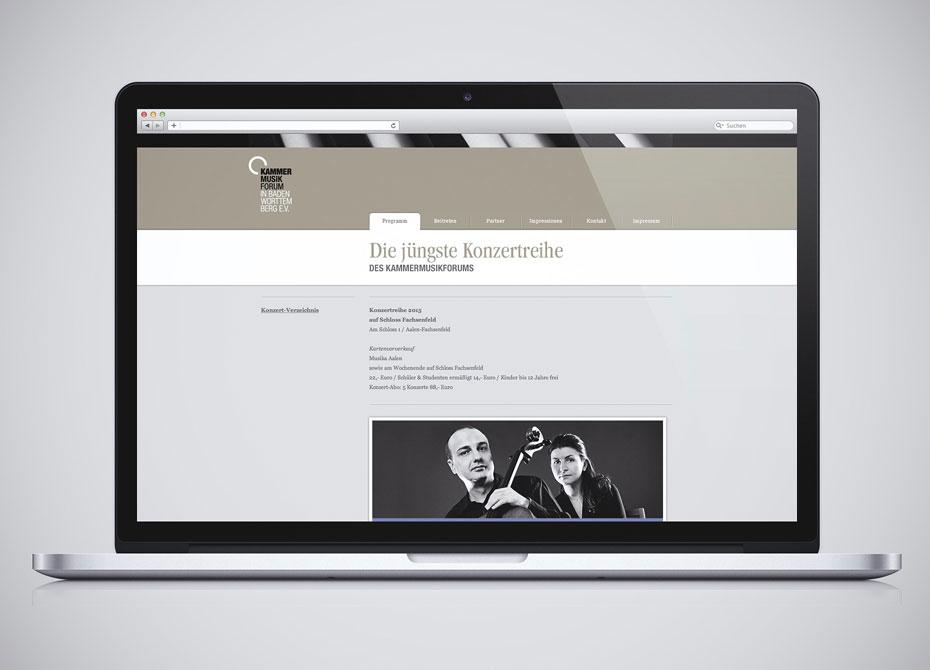 Webdesign Aalen Kammermusikforum